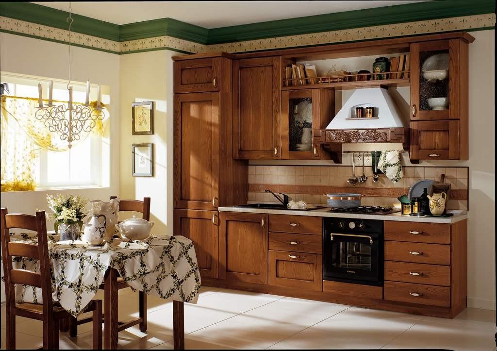 Cucina classica componibile tosca 01 arredamento mobili e cucine pesaro for Cucine classiche in offerta
