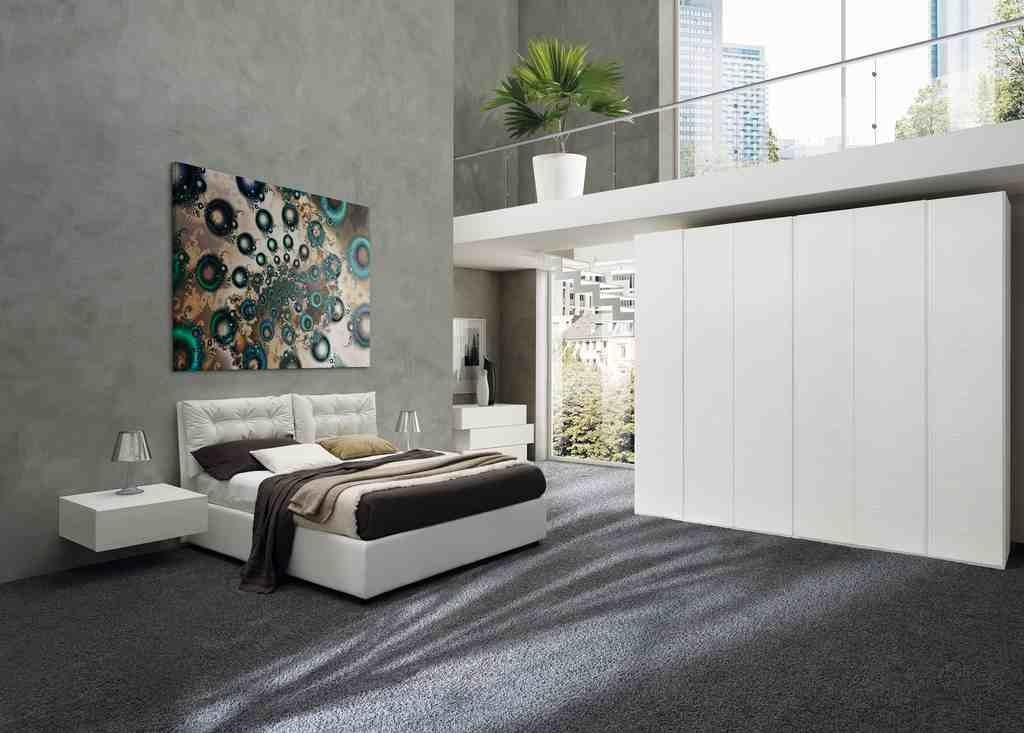 Camere da letto matrimoniali in larice bianco - Camera letto moderna ...