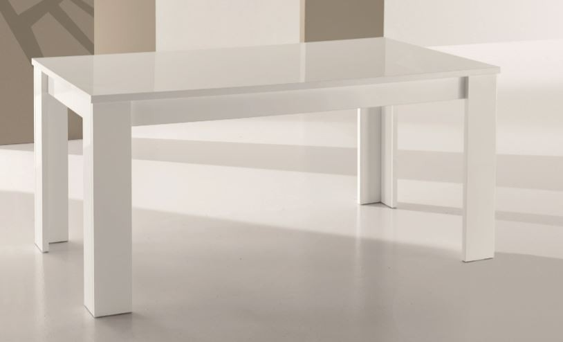 Tavolo moderno rettangolare allungabile laccato mobili e for Tavoli bianchi moderni