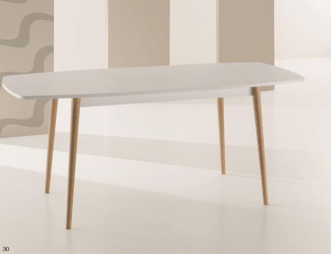 Tavolo moderno rettangolare allungabile con apertura centrale - Mobili ...