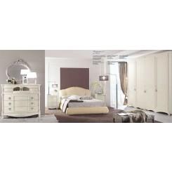 Camera Matrimoniale in Tamburato  Bianco Spugnato  Proposta 02
