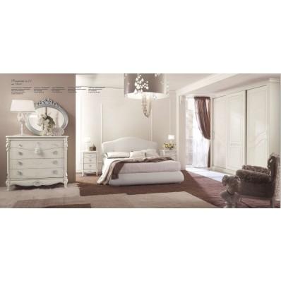 Camera da Letto in Tamburato  Bianco Spugnato  Proposta 23
