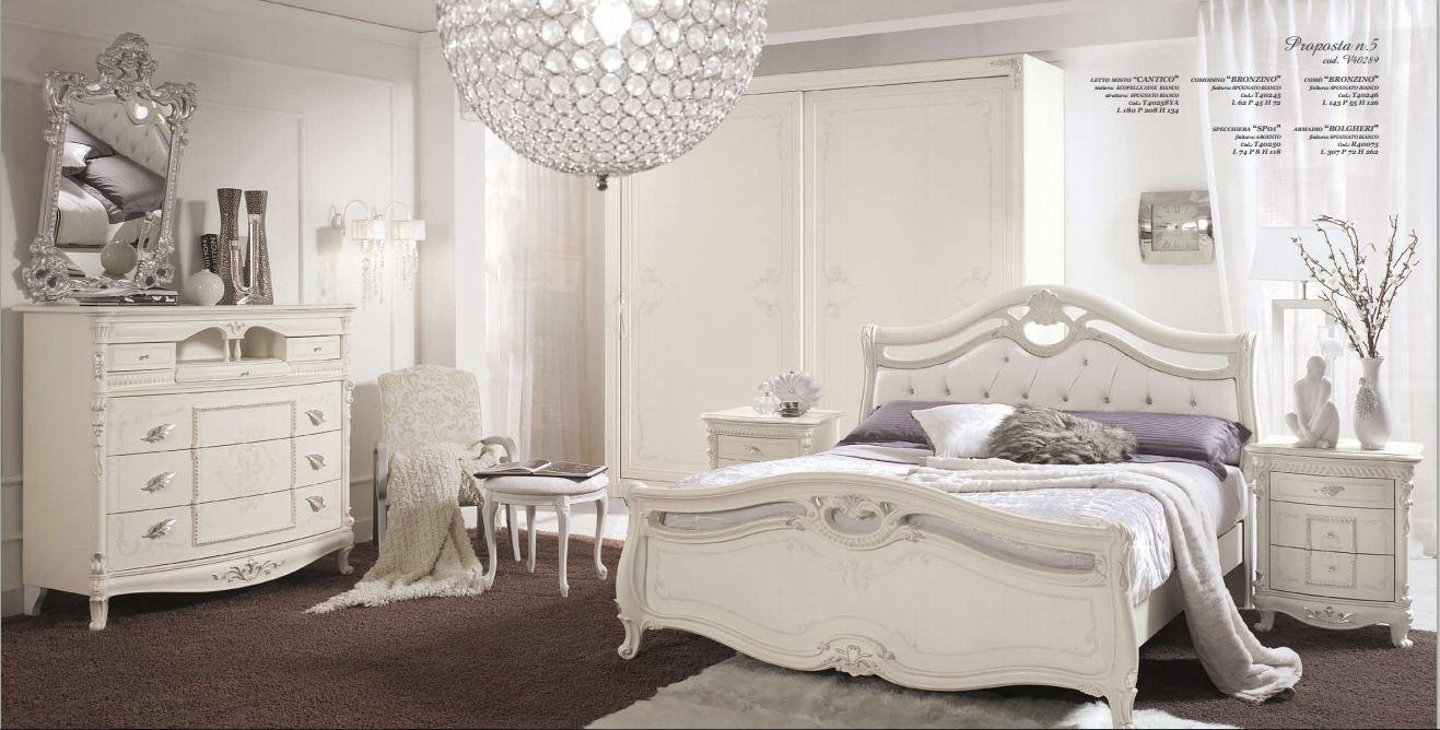 Camera Da Letto Bianco : Camera matrimoniale tamburato arredamento mobili e cucine pesaro