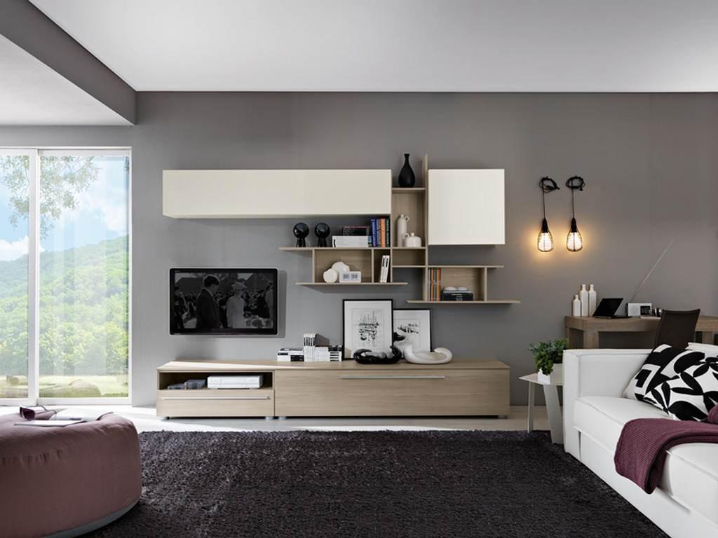 Soggiorno viola arredamento mobili e cucine