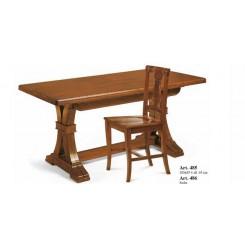 Tavolo in legno gambe fratino finitura Bassano