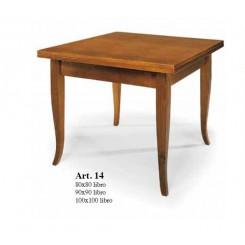 Tavolo in legno quadrato allungabile